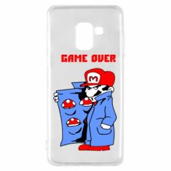 Чехол для Samsung A8 2018 Game Over Mario