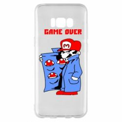Чехол для Samsung S8+ Game Over Mario