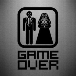 Наклейка Game Over - FatLine