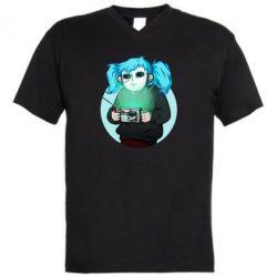 Чоловіча футболка з V-подібним вирізом Game Sally Face