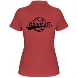 Женская футболка поло Гандбол Лого - FatLine