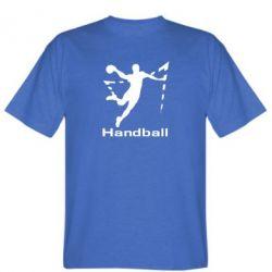 Мужская футболка Гандболист в прыжке - FatLine