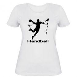 Женская футболка Гандболист в прыжке - FatLine