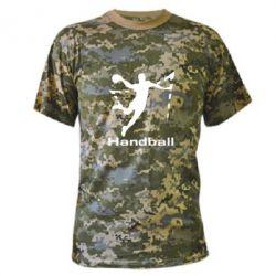 Камуфляжная футболка Гандболист в прыжке - FatLine