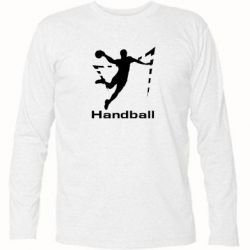 Футболка с длинным рукавом Гандболист в прыжке - FatLine