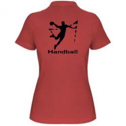Женская футболка поло Гандболист в прыжке - FatLine