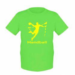 Детская футболка Гандболист в прыжке - FatLine