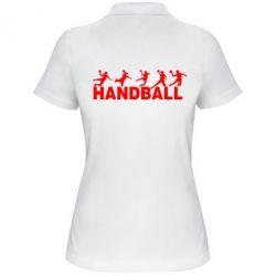 Женская футболка поло Гандболисты - FatLine