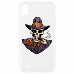Чехол для iPhone XR Gangsta Skull