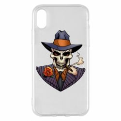 Чехол для iPhone X/Xs Gangsta Skull