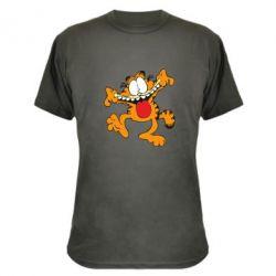 Камуфляжная футболка Гарфилд кривляка - FatLine