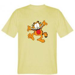Мужская футболка Гарфилд кривляка - FatLine
