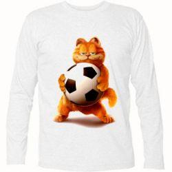 Купить Футболка с длинным рукавом Гарфилд любит футбол, FatLine