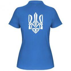 Женская футболка поло Гарний герб України - FatLine