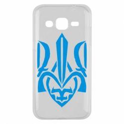 Чехол для Samsung J2 2015 Гарний герб України - FatLine