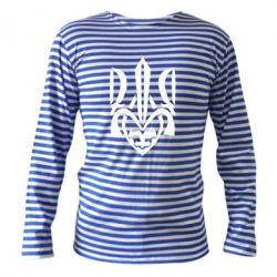 Тельняшка с длинным рукавом Гарний герб України - FatLine