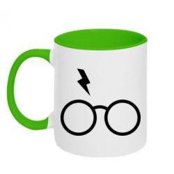 Кружка двоколірна 320ml Гаррі Поттер лого