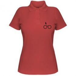 Жіноча футболка поло Гаррі Поттер лого