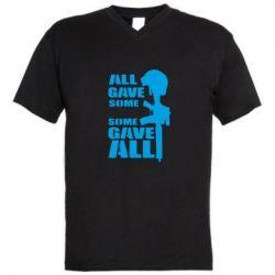 Мужская футболка  с V-образным вырезом Gave All
