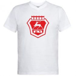 Мужская футболка  с V-образным вырезом ГАЗ - FatLine