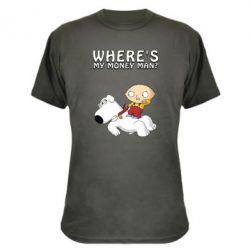 Камуфляжна футболка Де мої гроші - FatLine