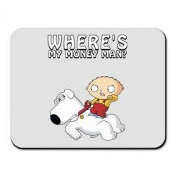 Килимок для миші Де мої гроші - FatLine