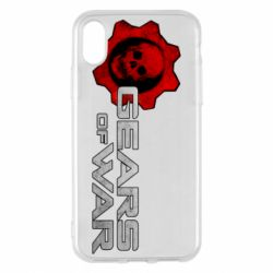 Чехол для iPhone X/Xs Gears of War logotype