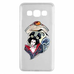 Чехол для Samsung A3 2015 Geisha and crane