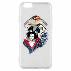 Чехол для iPhone 6/6S Geisha and crane