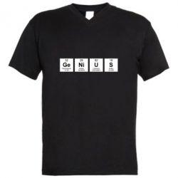 Чоловіча футболка з V-подібним вирізом Genius