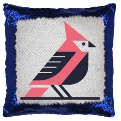 Подушка-хамелеон Geometric Bird