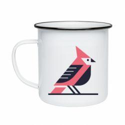 Кружка емальована Geometric Bird