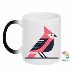 Кружка-хамелеон Geometric Bird