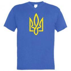 Мужская футболка  с V-образным вырезом Герб 2 - FatLine