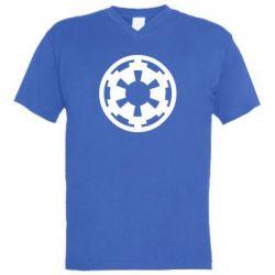 Мужская футболка  с V-образным вырезом Герб Империи - FatLine
