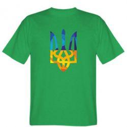 Мужская футболка Герб из ломанных линий - FatLine