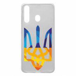 Чехол для Samsung A60 Герб из ломанных линий