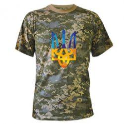 Камуфляжная футболка Герб из ломанных линий - FatLine