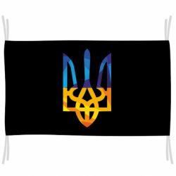 Флаг Герб из ломанных линий