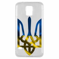 Чехол для Samsung S5 Герб на фоні прапора - FatLine