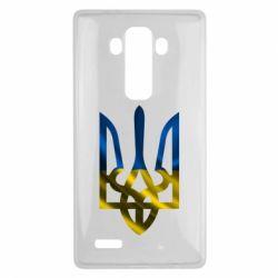 Чехол для LG G4 Герб на фоні прапора - FatLine