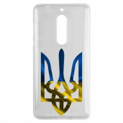 Чехол для Nokia 5 Герб на фоні прапора - FatLine