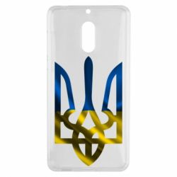 Чехол для Nokia 6 Герб на фоні прапора - FatLine