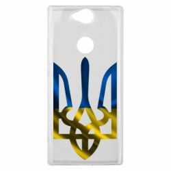 Чехол для Sony Xperia XA2 Plus Герб на фоні прапора - FatLine