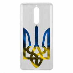 Чехол для Nokia 8 Герб на фоні прапора - FatLine