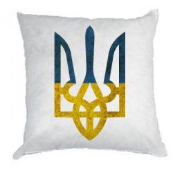 Подушка Герб на фоні прапора - FatLine