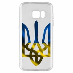 Чехол для Samsung S7 Герб на фоні прапора - FatLine