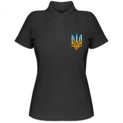 Женская футболка поло Герб на фоні прапора - FatLine