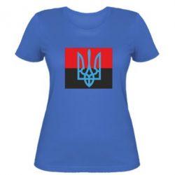 Женская футболка Герб на прапорі - FatLine