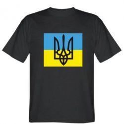 Мужская футболка Герб на прапорі - FatLine
